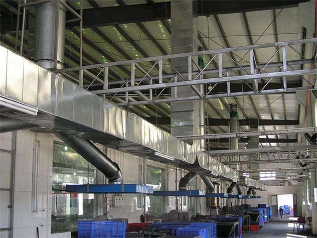 通风管道加工 蓝宝石环保供应厂家直销的白铁通风管道