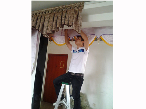 窗帘安装培训