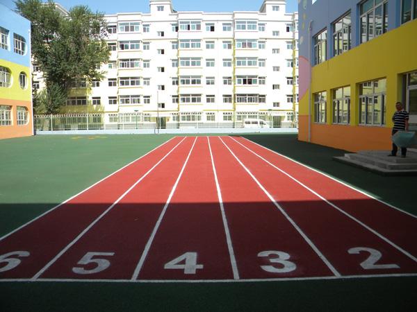 甘肃塑胶跑道厂家-兰州质量硬的学校体育场