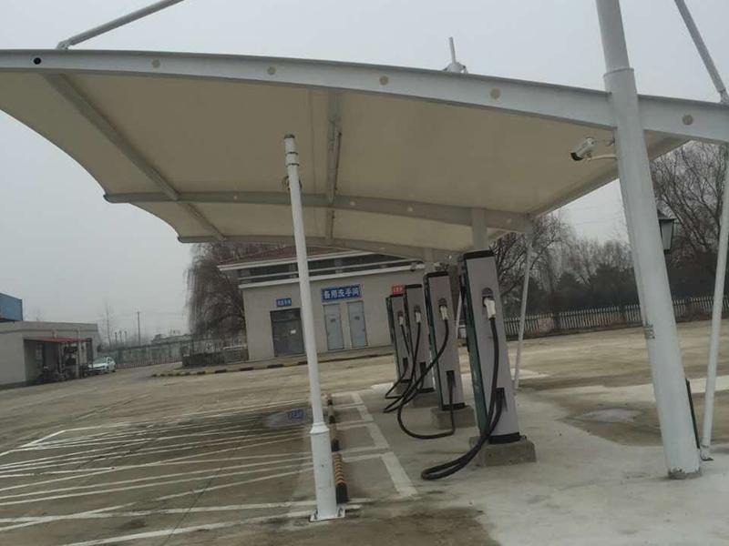 安徽膜結構充電樁雨棚定制-安徽專業的充電樁雨棚公司