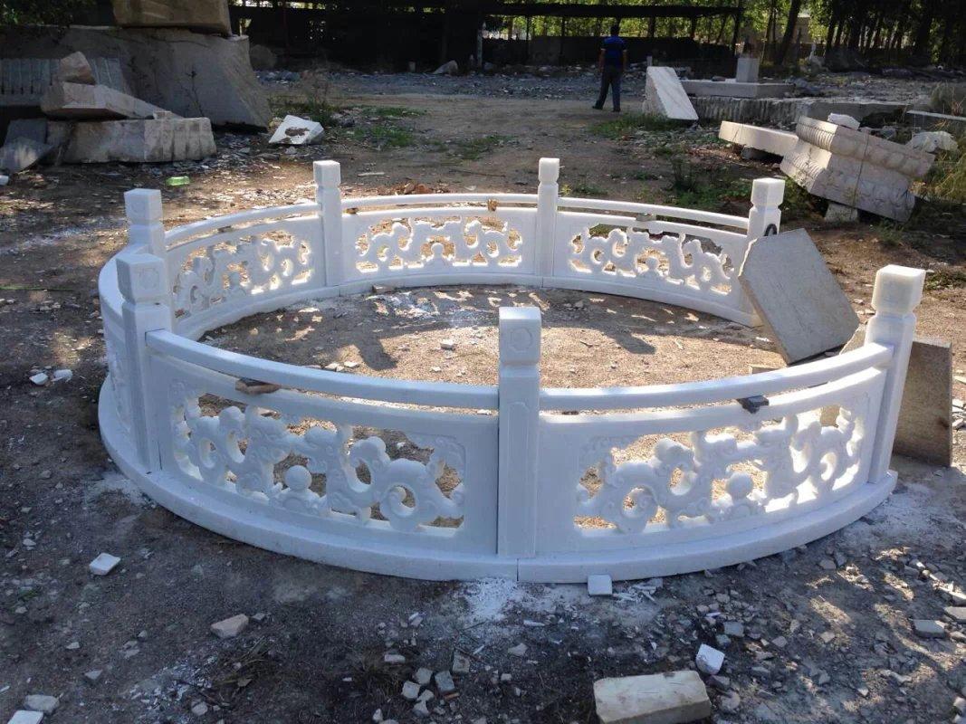 石材栏杆定做_四川哪里有供应高质量的汉白玉栏杆