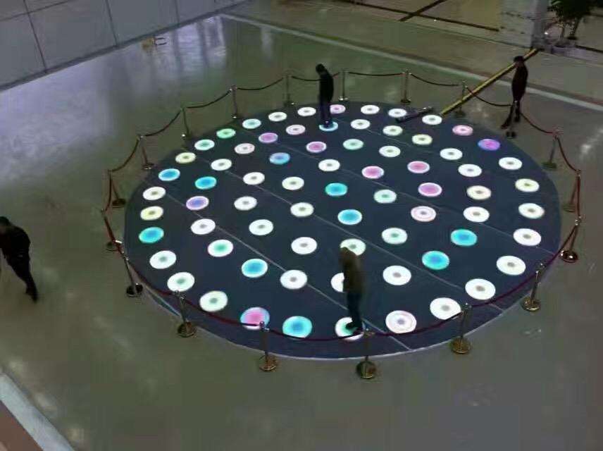 圆形感应户外防水地砖灯