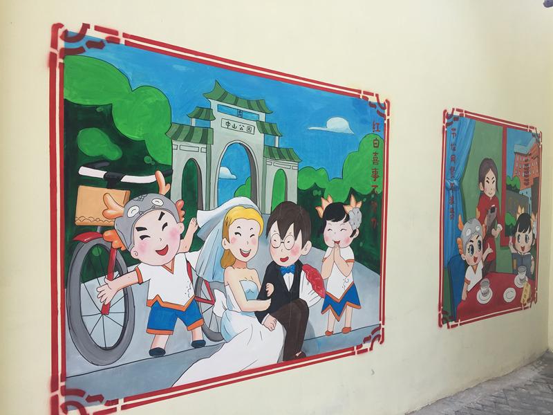 墙体手绘_选宏途坊艺术不会错-室内墙绘报价
