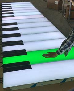 互动感应道具LED钢琴