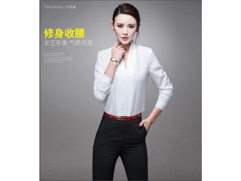 石狮女式长袖衬衫定制-质量好的女式长袖衬衫供应-就在森友制服