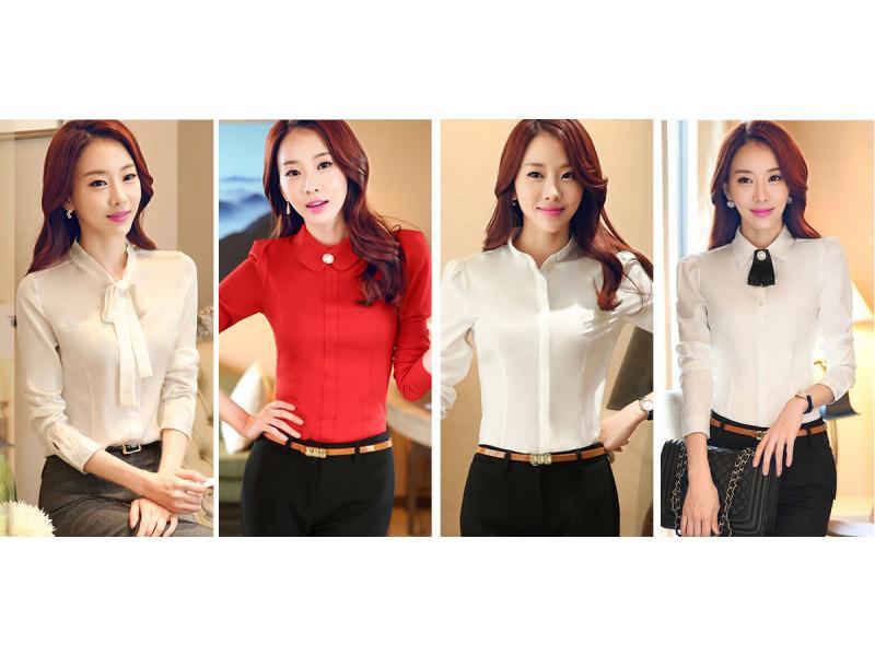 森友制服专业提供新款女式长袖衬衫|女式长袖衬衫公司