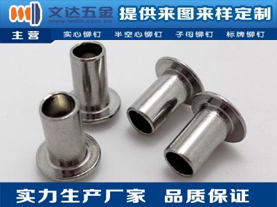 广东划算的不锈钢铆钉,扁圆头半空心不锈钢铆钉