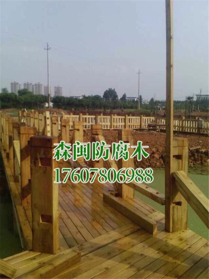 北海哪里有防腐木材批发-南宁森闽建材出售实用的玉林防腐木护栏