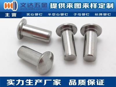 文達五金提供優惠的不銹鋼鉚釘——不銹鋼半空心鉚釘