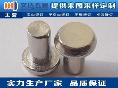 文达五金提供好的不锈钢铆钉,平头半空心不锈钢铆钉