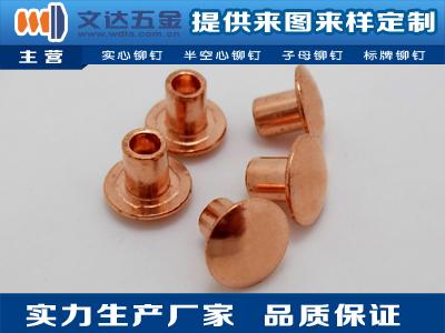 深圳專業的銅鉚釘_廠家直銷-沉頭銅鉚釘