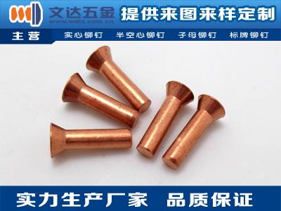 銅鉚釘加工-耐用的銅鉚釘文達五金供應
