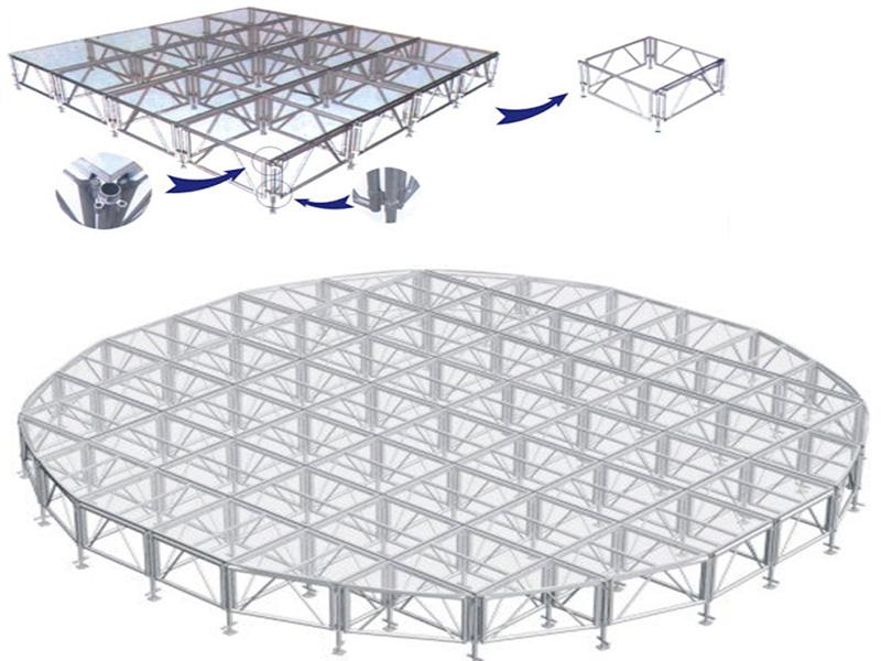 品质可靠的铝合金玻璃舞台推荐-定制铝合金玻璃舞台