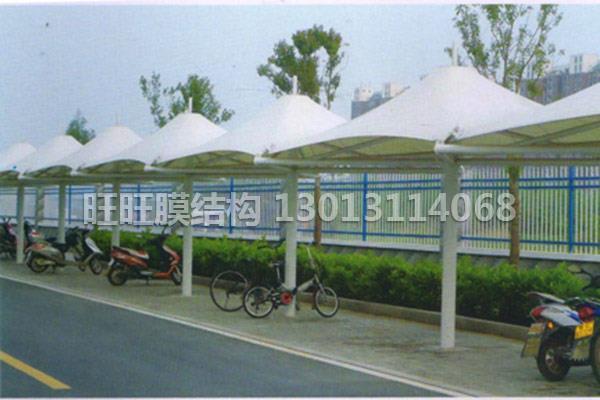 膜結構汽車棚-安徽膜結構自行車棚價格