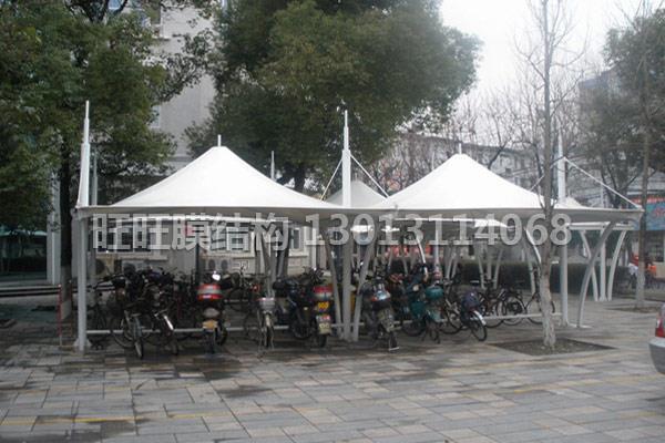 膜结构景观棚安装|安徽膜结构自行车棚造价