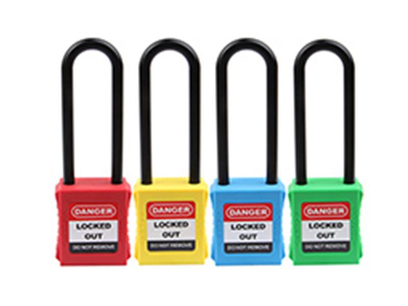 洛科安防用品供应专业的76MM A型绝缘长梁系列之安全挂锁,绝缘长梁安全挂锁厂家