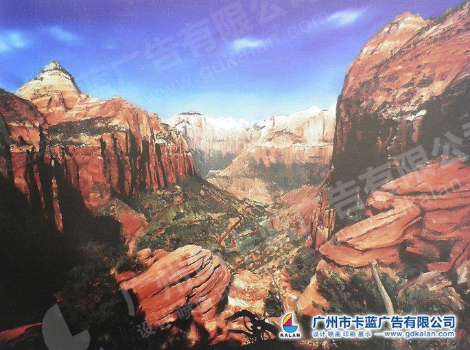 卡蓝广告高性价比的广州喷画艺术画布-天河区喷画公司