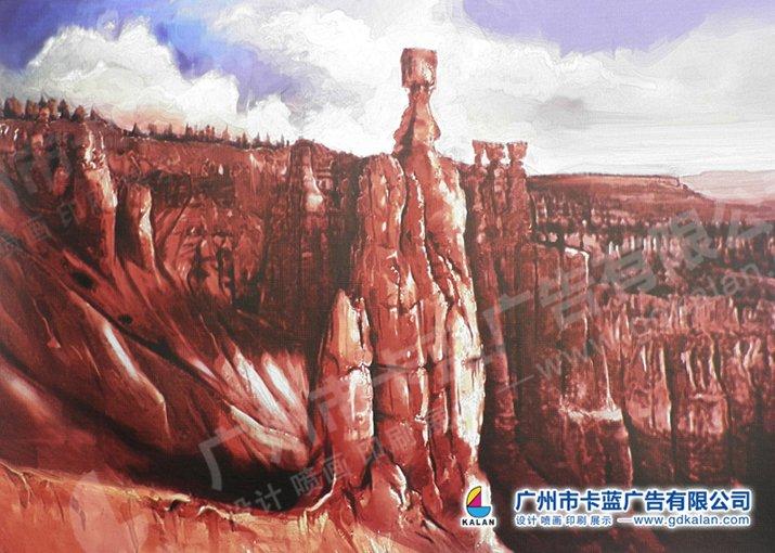口碑好的廣州噴畫藝術畫布供應商_卡藍廣告-掛畫布噴繪