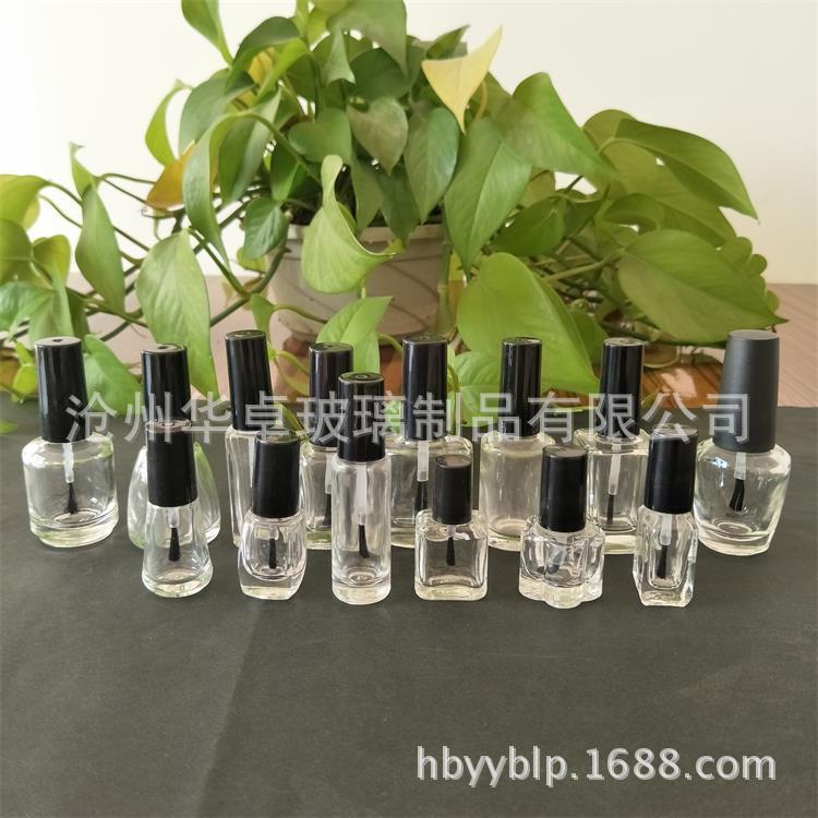 华卓玻璃制品供应同行中口碑好的15ml指甲油玻璃瓶-指甲油瓶制造厂家