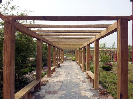 防腐木長廊供應_天景木業防腐木長廊您的品質之選