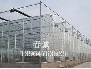 纹络式玻璃温室@新型智能温室施工@智能温室大棚造价-春诚