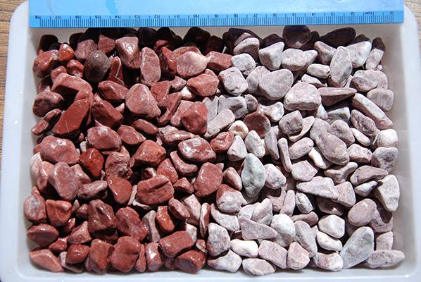 丹东哪有供应优惠的鸡血红卵石_海南鸡血红石米