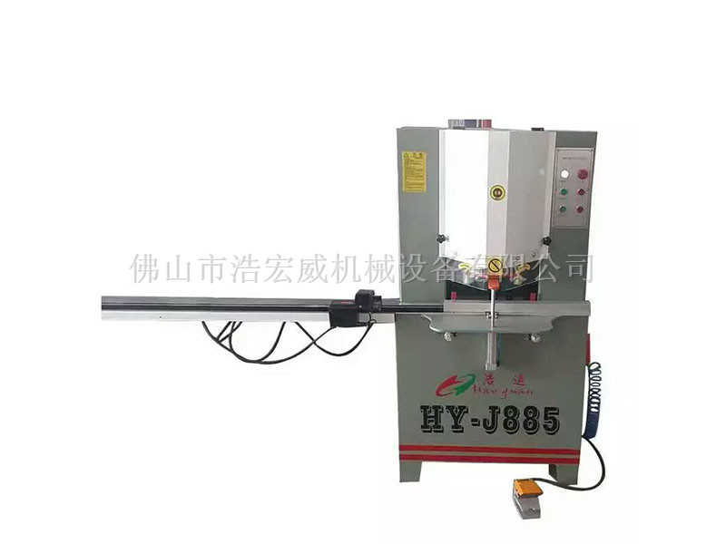 广东铝型材切割机厂家|佛山浩宏威机械45度双头切角锯多少钱
