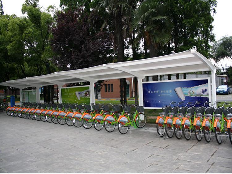 漯河膜结构自行车棚厂家-膜结构自行车棚价格