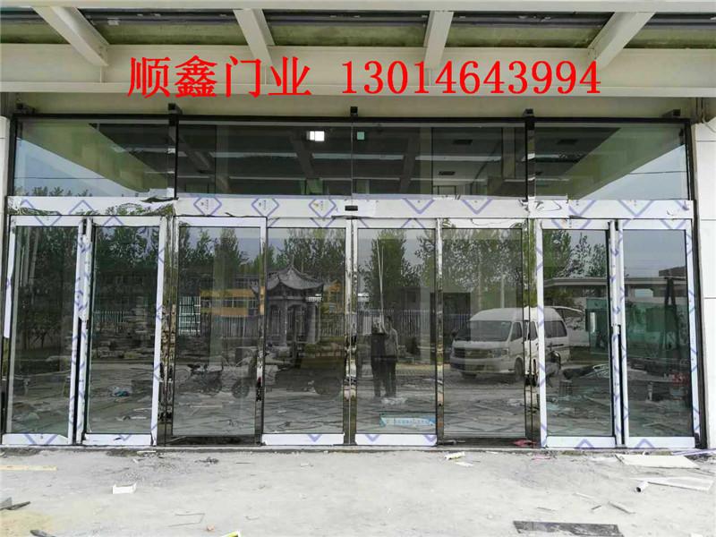 安徽感应门|为您推荐郑州顺鑫有品质的不锈钢黑钛感应门