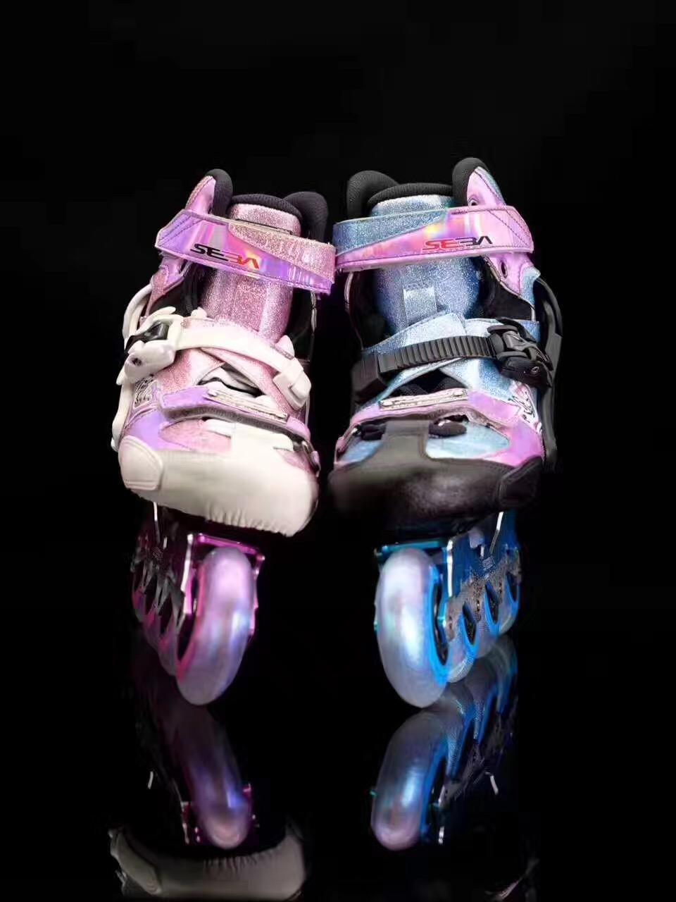 福州专业级的KSJ-J儿童碳纤平花鞋供销,轮滑鞋
