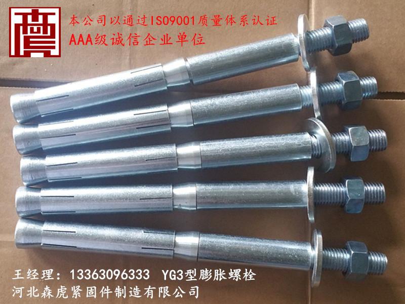 森虎牌YG3型膨胀螺栓专业供应商_北京YG3型膨胀螺栓
