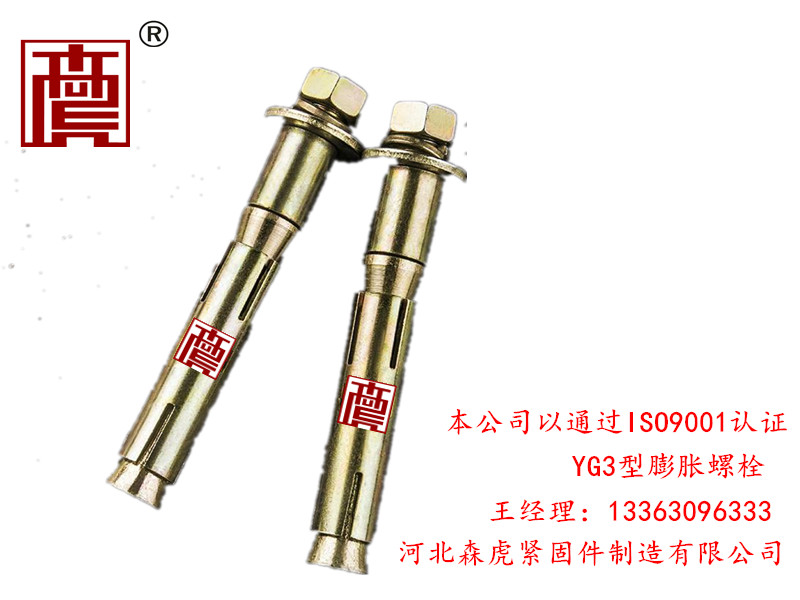 定制YG3型膨胀螺栓——森虎紧固件供应厂家直销的YG3型膨胀螺栓