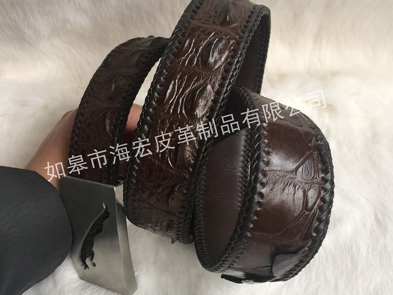 鳄鱼皮皮带_如皋市海宏皮革制品为您提供耐用的鳄鱼皮腰带