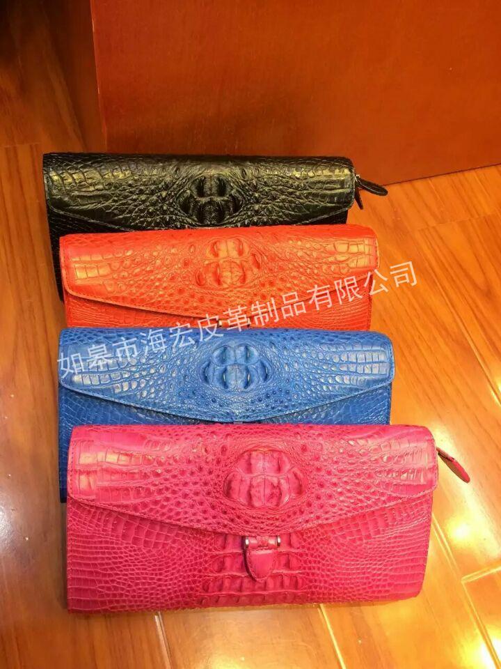 如皋市海宏皮革制品为您提供价格优惠的鳄鱼皮手包——鳄鱼皮钱包