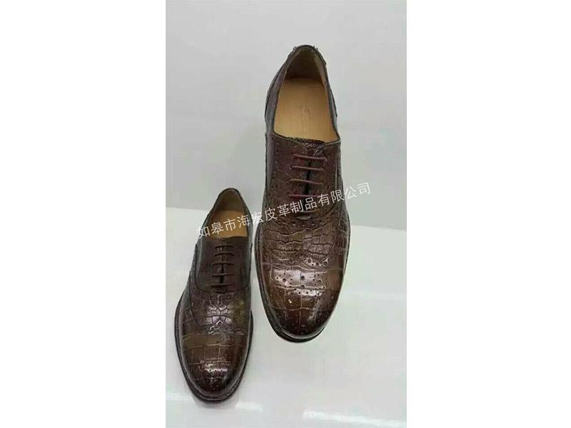 鳄鱼皮男士皮鞋价格_鳄鱼皮男士皮鞋哪里好,推荐如皋市海宏皮革制品