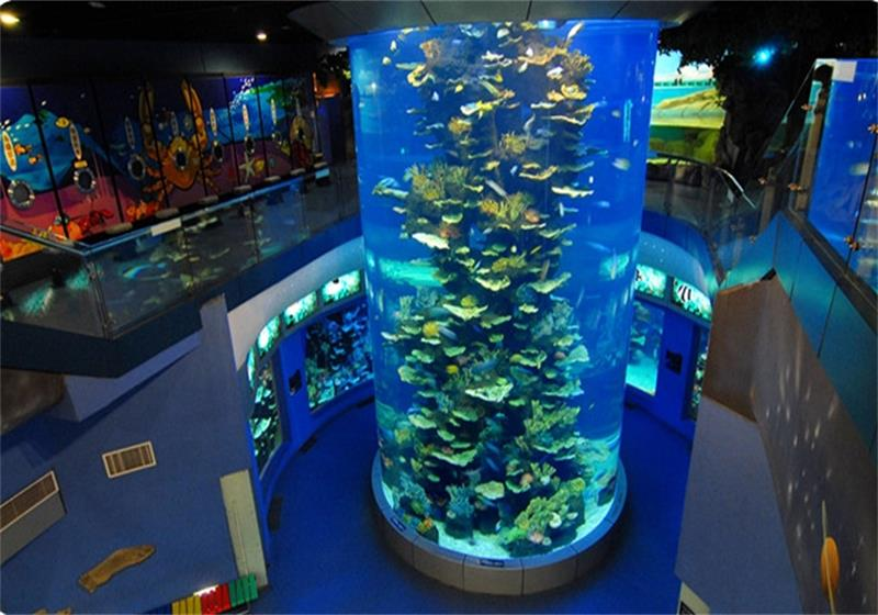亞克力魚缸代理|上海市具有口碑的大型亞克力圓柱形魚缸供應