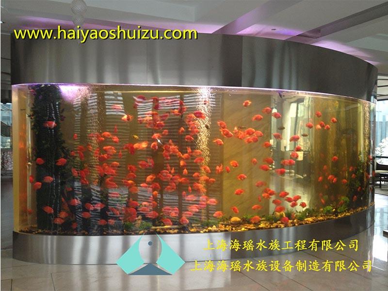 亚克力鱼缸代理_上海可靠的大型亚克力圆柱形鱼缸供应商