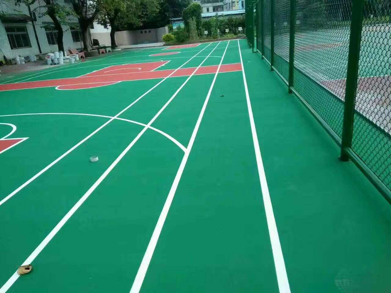 广州博华体育供应新硅PU球场材料 硅pu