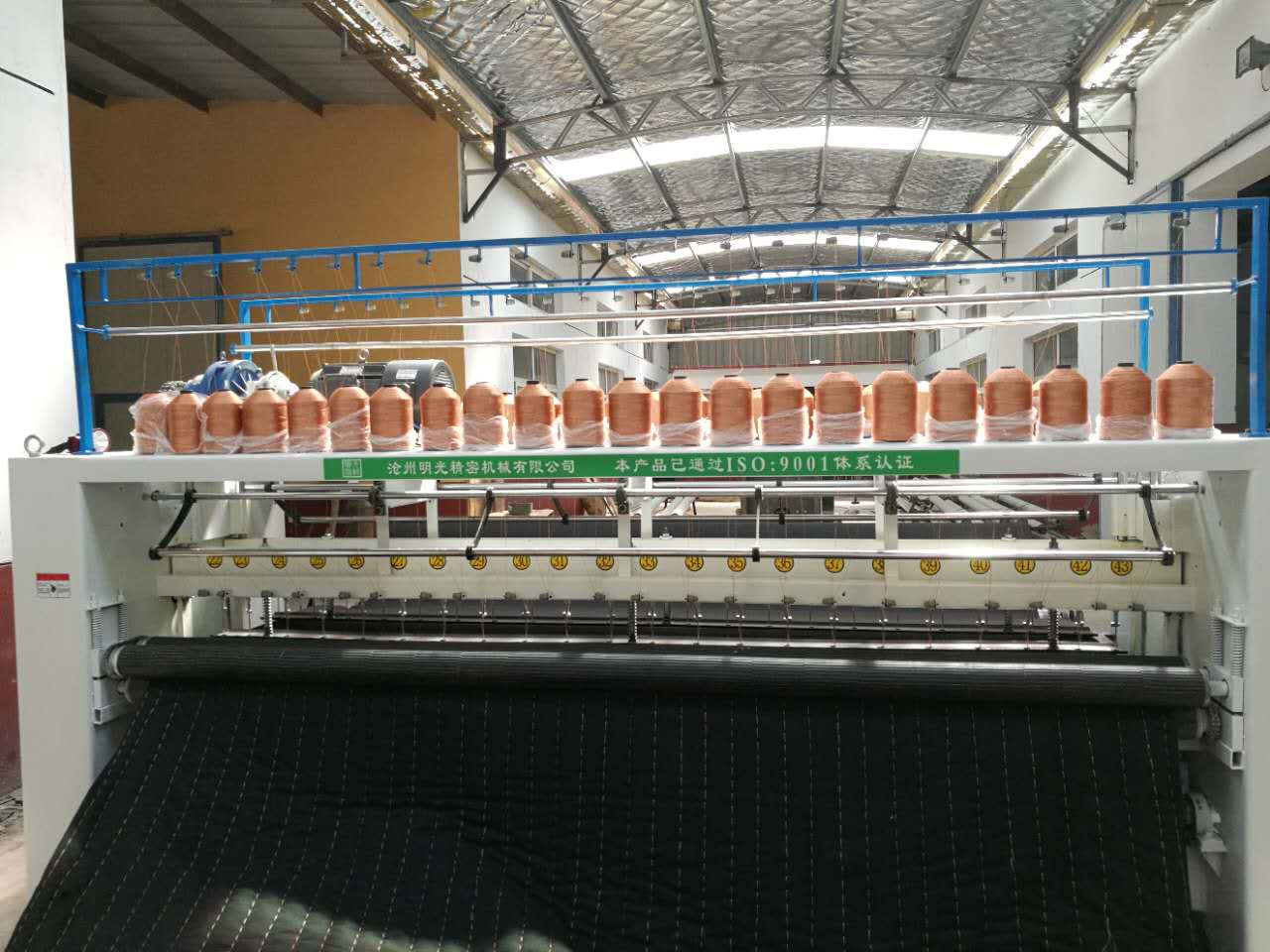 沧州多针绗缝机哪家好——厂家批发三米双排棉被机