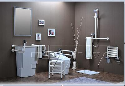山东F-W0211-U型水平洗手盆挂墙扶手市场价格-加盟无障碍扶手
