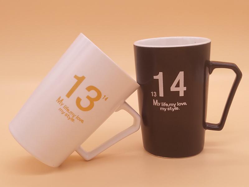 供应超优惠的亚光情侣高款对杯 专业的陶瓷杯