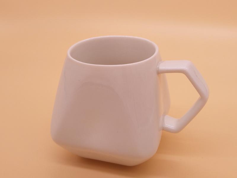 声誉好的菱形纯白色8盎司马克杯供应商,当选永德福家居|价格合理的陶瓷杯