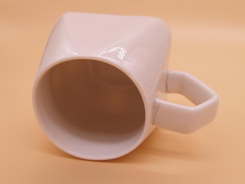 哪能买到超值的菱形纯白色8盎司马克杯,陶瓷定制