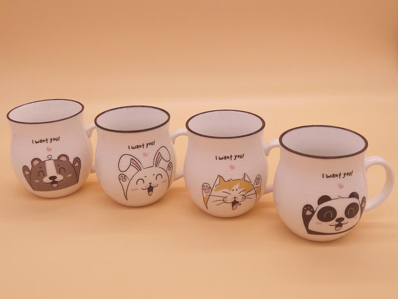 质量好的卡通创意手拉坯牛奶杯中号优选永德福家居 北京陶瓷杯