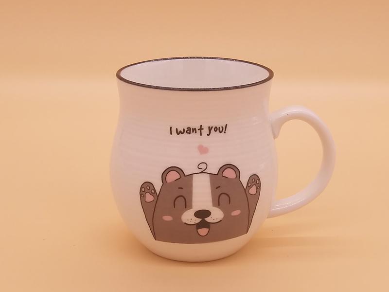 福建价格优惠的卡通创意手拉坯牛奶杯中号品牌-安徽陶瓷杯