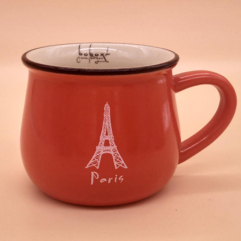 陶瓷杯定制LOGO,信誉好的大肚杯卡通创意早餐杯马克杯经销商