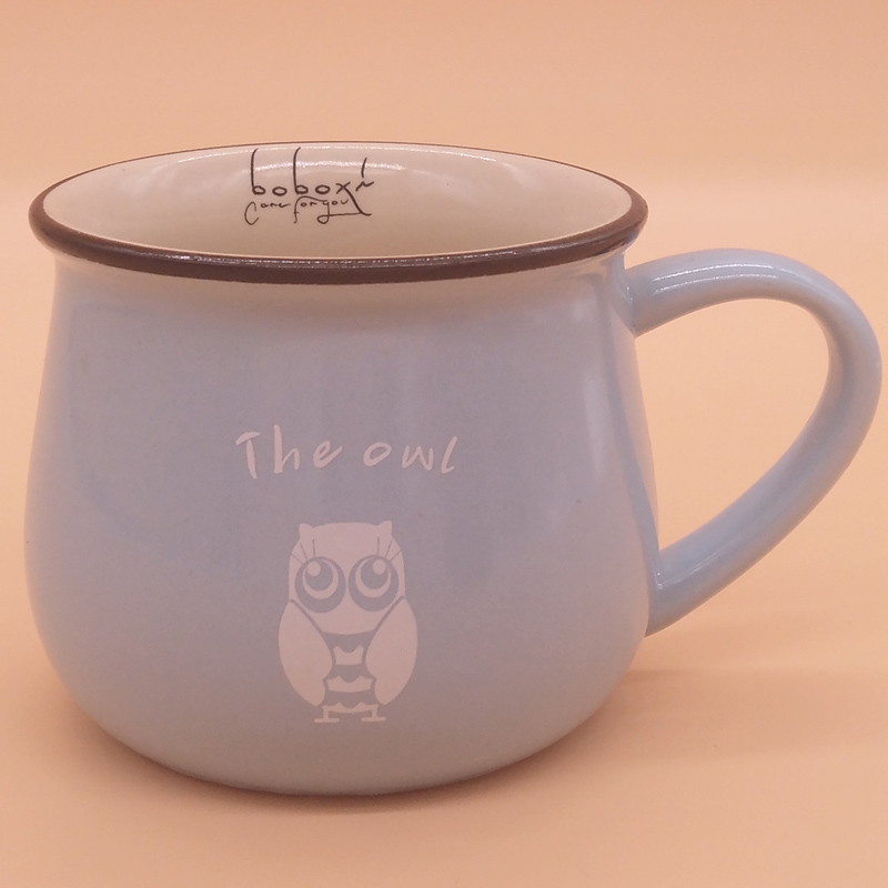 永德福家居劃算的大肚杯卡通創意早餐杯馬克杯-專業的陶瓷杯