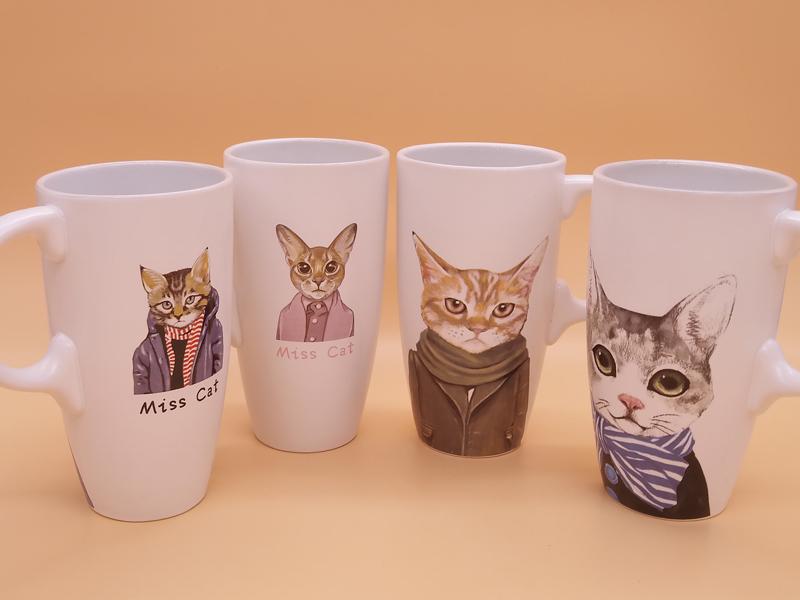 青花瓷,福州质量好的喵星人文艺陶瓷马克杯茶水杯要到哪买
