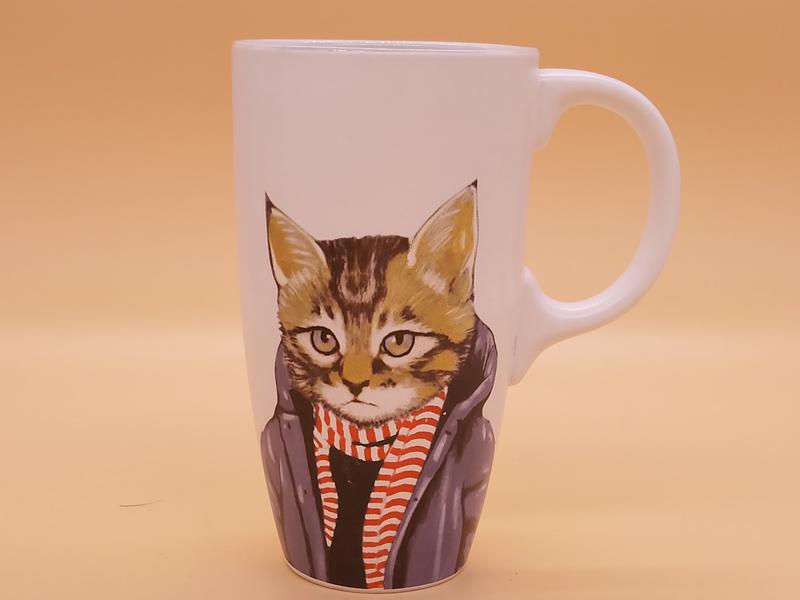 福建价格优惠的喵星人文艺陶瓷马克杯茶水杯品牌-德化水杯