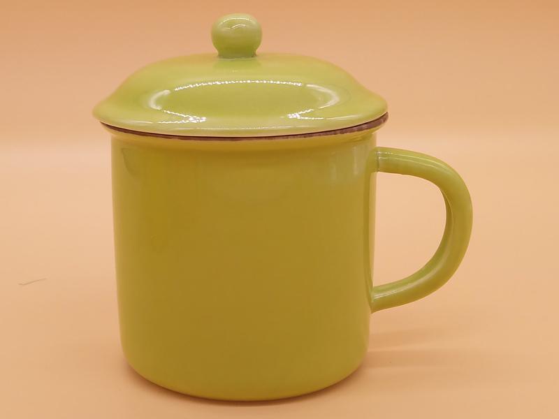 供应福州物超所值的全色釉陶瓷杯水杯带盖勺|陶瓷杯好吗